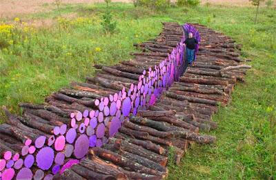 land-art-troncos-pintados