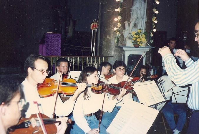 Orquesta de Cámara del Conservatorio Juan José Landaeta. Años 90. Caracas