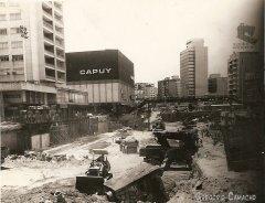 Caracas - Metro Chacaito en construcción - Década de los '80
