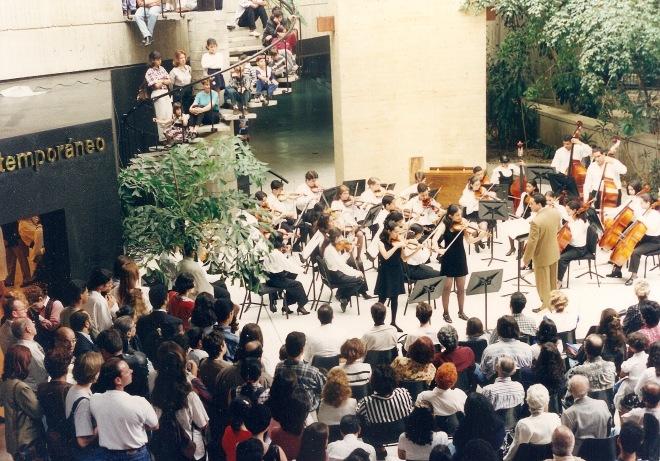 Orquesta Sinfónica Juvenil de Chacao. Años 90. Isabel Camacho