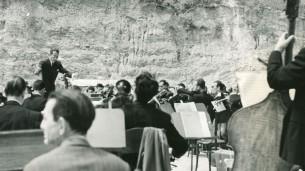 Pedro Antonio Rios Reyna dirigiendo - Concha acústica de Bello Monte - Orquesta Sinfónica de Venezuela