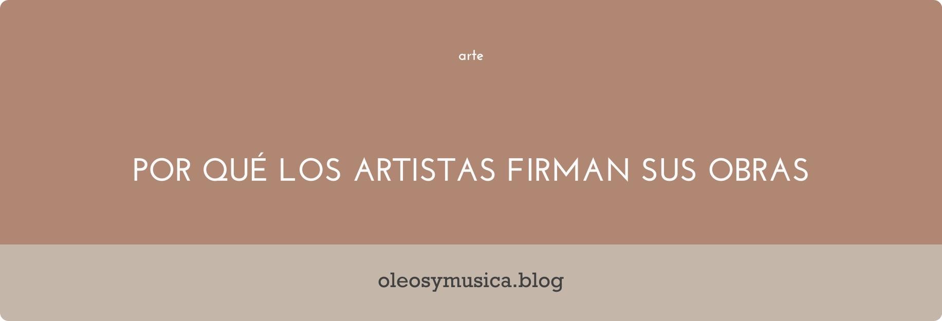 firma obras de arte - oleos y musica