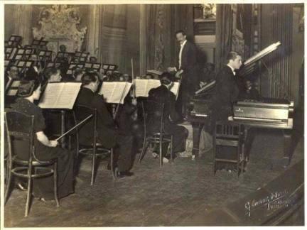 Evencio Castellanos, Vicente Emilio Sojo, Orquesta Sinfónica de Venezuela 1938
