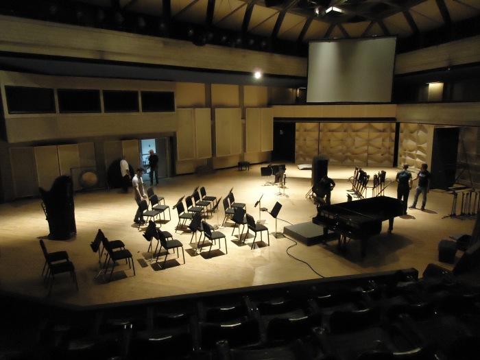 Orquesta Sinfónica antes del ensayo