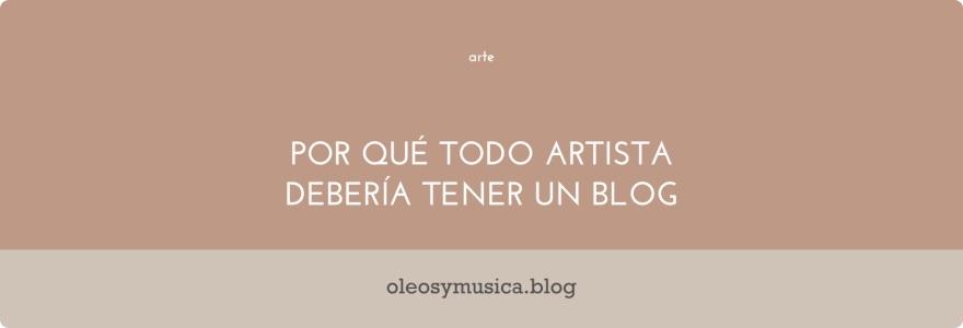 blog artista - oleos y musica